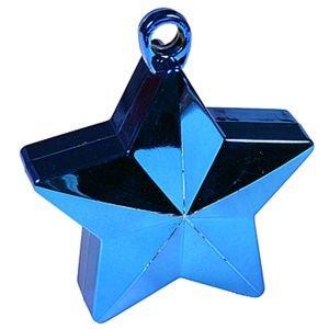 משקולת לבלונים - כוכב כחול