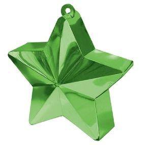 ثقالات للبالونات شكل نجوم اخضر