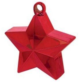 ثقالات للبالونات شكل نجوم احمر