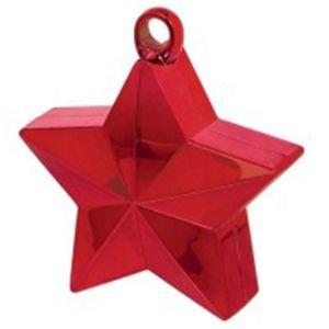 משקולת לבלונים - כוכב אדום