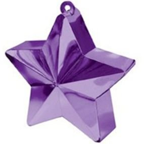 ثقالات للبالونات شكل نجوم بنفسجي