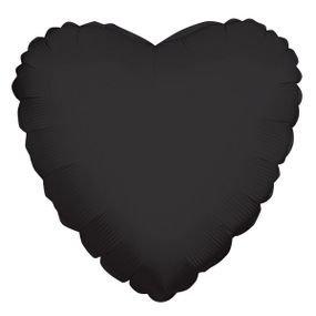 """بالون 18"""" قلب اسود"""