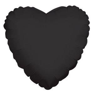 בלון מיילר 18- לב שחור חלק