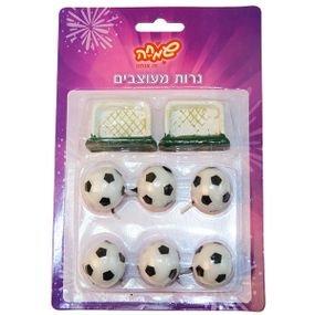 נרות כדורגל ושערים