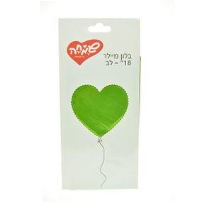 """بالون 18"""" قلب اخضر فاتح"""