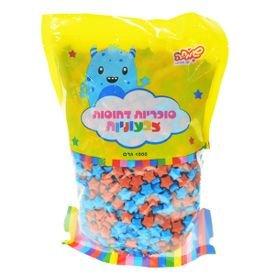"""סוכריות קשות כוכבים 1 ק""""ג מיקס כחול ואדום"""