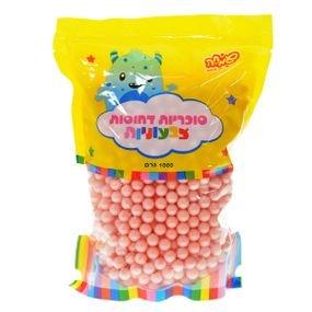 """סוכריות קשות כדורים 1 ק""""ג ורוד מטאלי"""