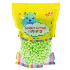 """סוכריות קשות כדורים 1 ק""""ג ירוק בהיר מטאלי"""
