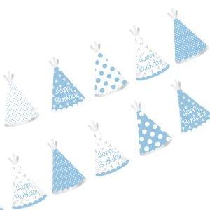 באנר לתלייהhbכובעי מסיבה כחול עם הטבעת כסף