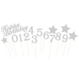 סט טופרים לעוגהhbגליטרים כסף (15)