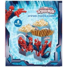 קופסת פופקורן וחטיפים 6 יח- ספיידרמן