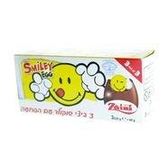 ثلاثية بيض شوكولاطة حليب وجه ضاحك
