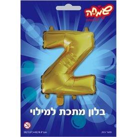 בלון מיילר 14- אות z - זהב