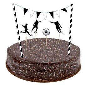 ערכת קישוט לעוגה דגלונים ודמויות-כדורגל
