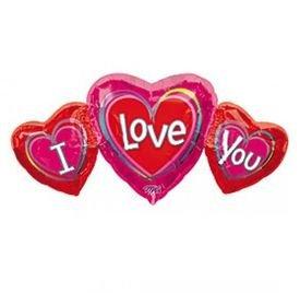 בלון מיילר 36- 3 לבבותi love you