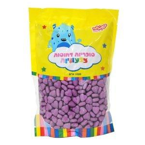"""סוכריות קשות לבבות סגולים 1 ק""""ג"""