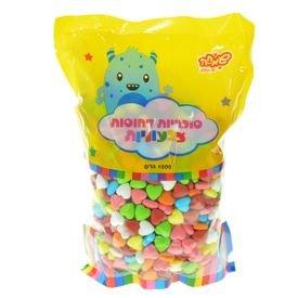 """סוכריות קשות לבבות מיקס כל הצבעים 1 ק""""ג"""
