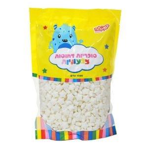 """סוכריות קשות כוכבים 1 ק""""ג לבנים"""