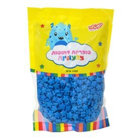 """סוכריות קשות כוכבים 1 ק""""ג כחולים"""