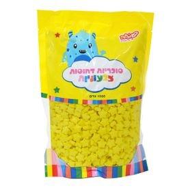 """סוכריות קשות כוכבים 1 ק""""ג צהובים"""