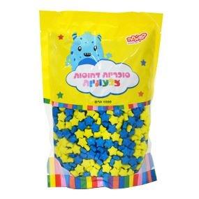 حلوى تزيين نجوم ازرق واصفر 1 كغم