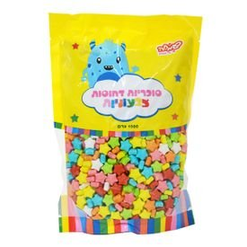 """סוכריות קשות כוכבים 1 ק""""ג מיקס צבעים"""