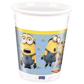 """כוסות פלסטיק 200 מ""""ל מיניונים"""