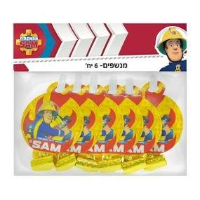زمامير ورقيه 6 قطع سام رجل الإطفاء