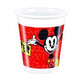 כוסות פלסטיק 200 מל 8 יח- דגם מיקי סופר קול