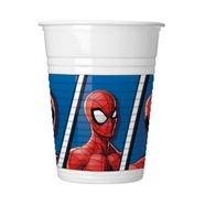 כוסות פלסטיק 200 מל 8 יח- דגם ספיידרמן צעיר