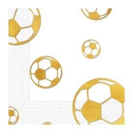 מפיות נייר 33x33סמ 20 יח 3 שכ'- דגם כדורגל זהב מטאלי