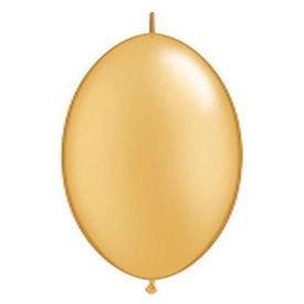 בלוןq6לינק זהב מטאלי - 50 יח