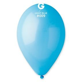 "بالون 10""  ازرق سماوي"