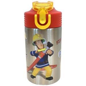 مطرة ماء المنيوم 450 مل مع قش للطي سامي رجل الاطفاء