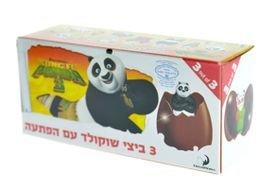 שלישיית ביצי שוקולד קונג פו פנדה (1x24) חלב ישראל