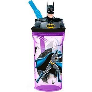 كوب ثلاتي الابعاد مع قش شخصية باتمان