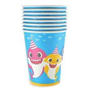 כוסות נייר בייבי שארק 8 יח