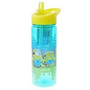 مطرة ماء 500 ماء مع مصاصة بلاستيك مينيونز
