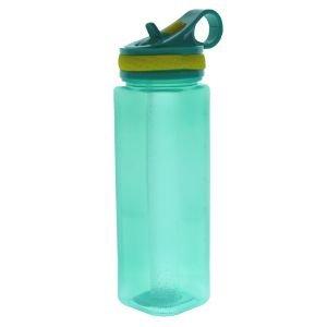 مطرة ماء بلاستيك شفاف 700 مل اخضر