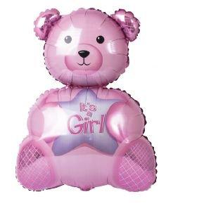 """بالون 34"""" دب it's a girl"""