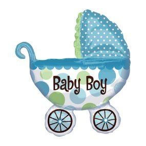 "بالون 34"" عربة it's a boy"