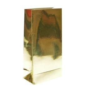 שקית קרטון בסיס 190 גר- מטאלי זהב 4 יח