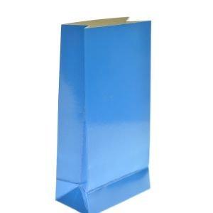 שקית קרטון בסיס 190 גר- ניאון כחול 4 יח