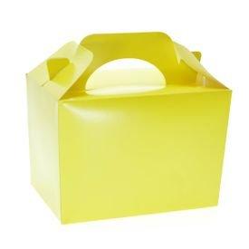 קופסת לאנץ בוקס קרטון מקרון צהוב 6 יח