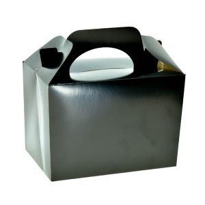 קופסת לאנץ בוקס קרטון שחור 6 יח