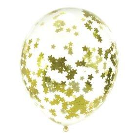 בלון קונפטי 12- כוכבים זהב 5 יח