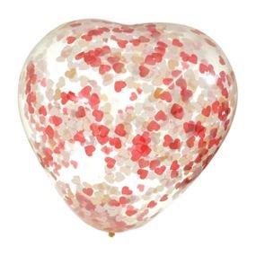 בלון קונפטי 18 בצורת לב - מיקס לבבות