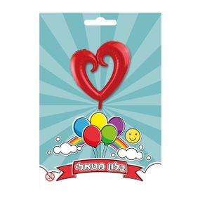 """بالون 36"""" قلب مفتوح احمر"""