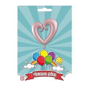 """بالون 36"""" قلب مفتوح وردي"""