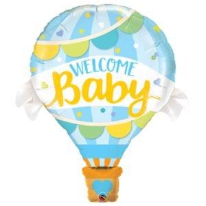 בלון מיילרq42כדור פורח ברוך הבא לתינוק 1יח